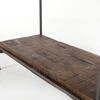 Barton Modern Industrial Iron Frame + Slab Wood Bookshelf