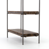 Simien Modern Industrial Iron Frame + Slab Wood Bookshelf
