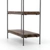 Simien Modern Industrial Iron Frame + Slab Wood Bookshelf