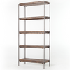 SIMIEN BOOKSHELF,WEATHERED HICKORY,GUNMETAL,IHRM-052