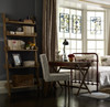 French Farmhouse Reclaimed Wood Leaning Bookcase