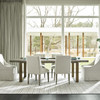 Jamison Belgian Linen Upholstered Wing Dining Chairs