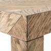 "Lamar Parquet Drifted Oak Wood Console Table 70"""