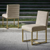 Hollywood Regency Gold Side Chair