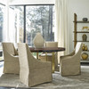 Gibson Modern Nutmeg Fabric Skirted Wing Dining Chair