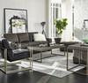 Portobello Modern Shagreen Bronze Metal Leg Coffee Table
