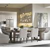 """Portobello Modern Oak Extending Dining Room Table 84"""""""