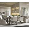 Portobello Modern Oak extendable dining table seats 10