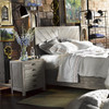 French Printer's Rustic Gray Wood King Storage Platform Bed Frame