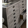 French PrinterMaker's Rustic Gray Wood Wide 8-Drawer Dresser