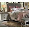 Belgian Cottage Carved Upholstered King Panel Bed Frames