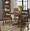 Farmhouse Reclaimed Wood Dining Room Chair, Ladder Back