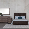 Calais Reclaimed Wood Low Profile Platform Bed - Queen Size