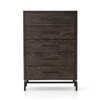 Alexa Industrial Modern Iron & Oak 5 Drawers Tallboy Chest