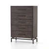 Alexa Industrial Modern Iron & Oak 5 Drawers Dresser