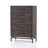 Alexa Industrial Modern Iron & Oak 5 Drawers Dresser