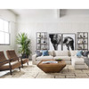 Chance Modern Camel Leather Living Room Chairs