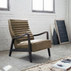 Chance Modern Camel Leather Lounge Chairs