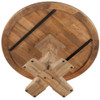 """French Farmhouse Trestle Round Dining Table 60"""""""