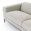 Benedict Modern Grey Fabric Upholstered Sofas