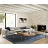 Benedict Modern Grey Fabric Right Facing Sectional Sofa 111""