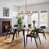 "Thoreau Mid-Century Modern Burnt Oak Dining Table 86"""