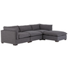 UATR-S01-008,WESTWOOD 3 PC SECTIONAL With OTTOMAN, BENNETT CHARCOAL