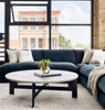 "Grant Modern Charcoal Grey 5-Piece Armless ""U"" Sectional Sofas"