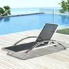 Milano Aluminum Outdoor Chaise Lounge