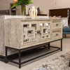 """Marabella 2 Drawer Mirrored Wood Console Tables 61"""""""