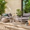 Sherwood Grey Teak Outdoor Club Chairs