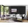Liam Modern Cream 2 Piece curved contemporary sofas