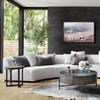 Liam Modern Cream 2 Piece curved contemporary sofa