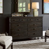 French Maison Dark Wood 8 Drawers Dresser