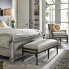 French Tailor's Upholstered Bed End Bench 56""
