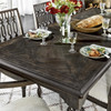 """French Maison Dark Wood Expandable Dining Table 82"""""""