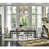 """French Maison Dark Wood Extension Dining Table 82"""""""