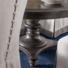 "French Maison Dark Wood Expandable Round Dining Table 54"", Diamond"