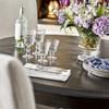 French Maison Dark Wood Expandable Round Dining Table 54, Diamond