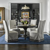 """French Maison Dark Wood Extending Round Dining Table 54"""""""