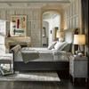 Deconstructed Tufted Chesterfield Queen Sleigh Bed