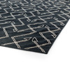 Charcoal Tribal Dhurrie Geometric Pattern Area Rug