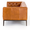 """Modern Chesterfield Sycamore Tan Leather Tufted Low Back Sofa 96"""""""