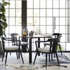 """Parsons Grey Oak Top/ Bronze Base Round Dining Table 42"""""""