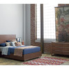 "Urban Modern Walnut 6 Drawers Dresser 58"""
