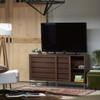 Urban Modern Walnut Sliding Door Media TV Stand