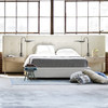 Brooklyn Panel Box-Tufted King Upholstered Bed Frame,Beige