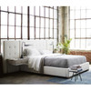 Brooklyn Extended Panel Box-Tufted Queen Upholstered Bed Frame