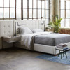Brooklyn Extended Panel Headboard Box-Tufted Queen Upholstered Bed Frames