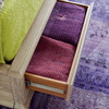 Antibes Rattan Headboard King Bed Frame with Drawers